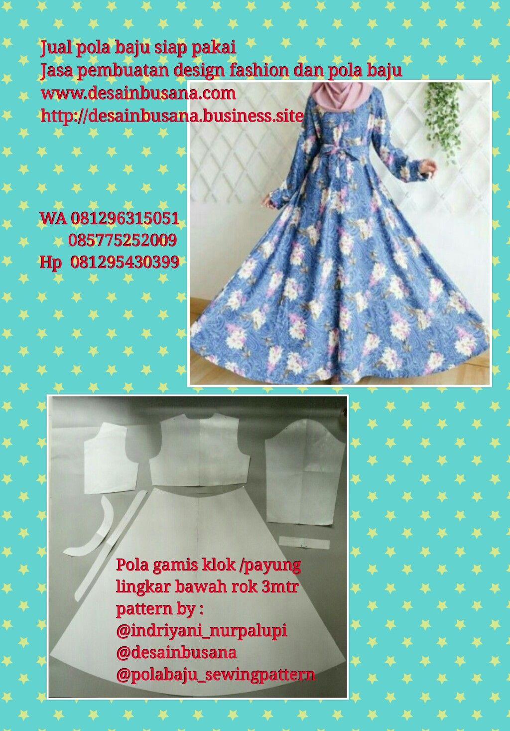 Jual pola gamis klok / payung ..www.desainbusana.com  Payung