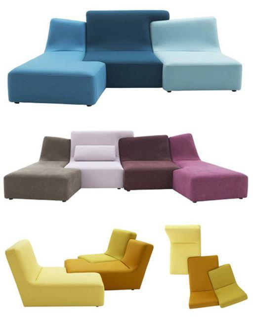 Canapé série Confluence pour Ligne Roset - Design by Philippe Nigro