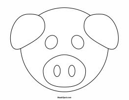 Pig Mask Template Animal Masks For Kids Pig Mask Pig Crafts