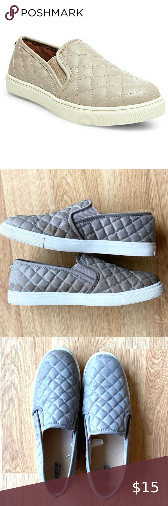 Mossimo Quilted Slip On Sneakers Tan