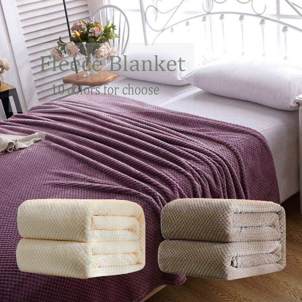 Fleece Throw Blanket Sofa Bed