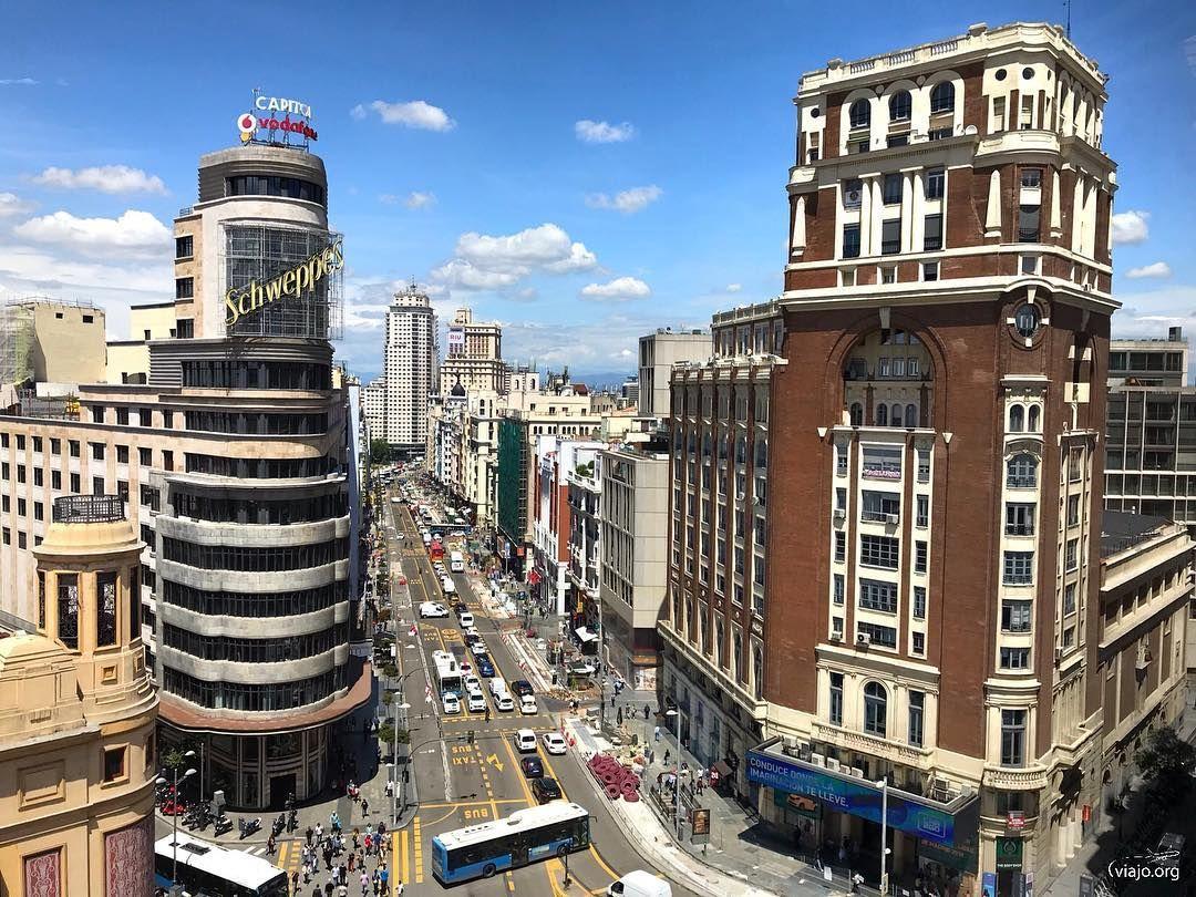 Gran Via Madrid Espana Empire State Building Building Empire State
