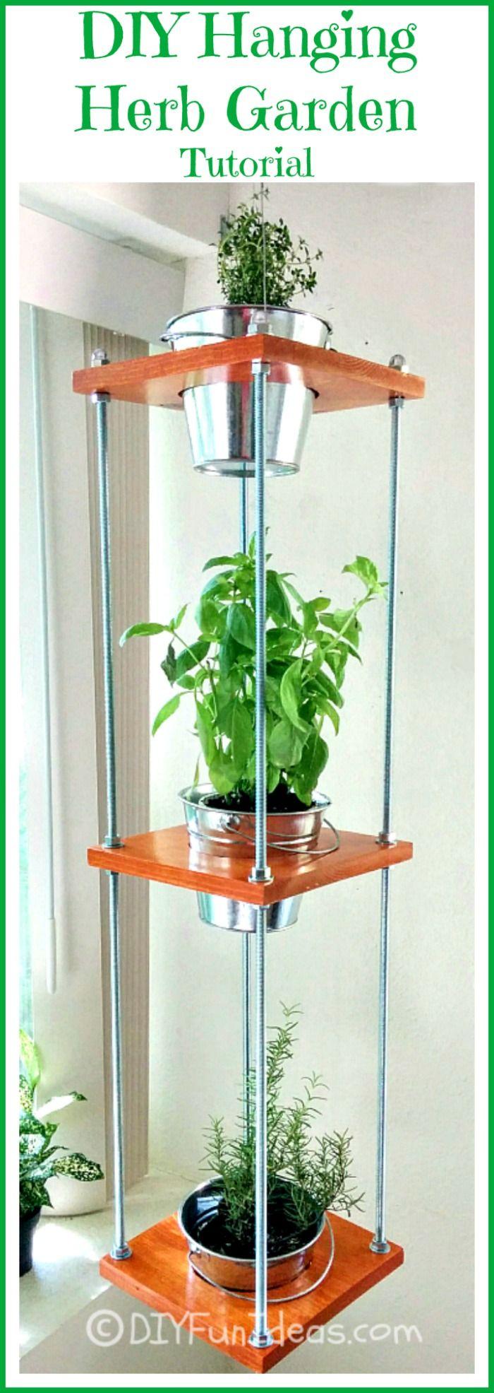 Diy Hanging Herb Garden Industrial Style Hanging Herbs 400 x 300