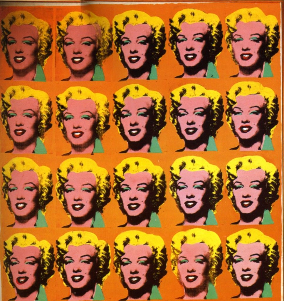 Excerpt from Andy Warhol's Marilyn Diptych.