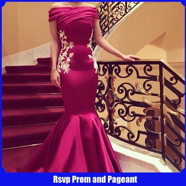 Long Evening Dress 2017 Boat Neck Cap Sleeve Mermaid Evening Gowns Applique  Floor Length Purple Formal e3ca890d4187