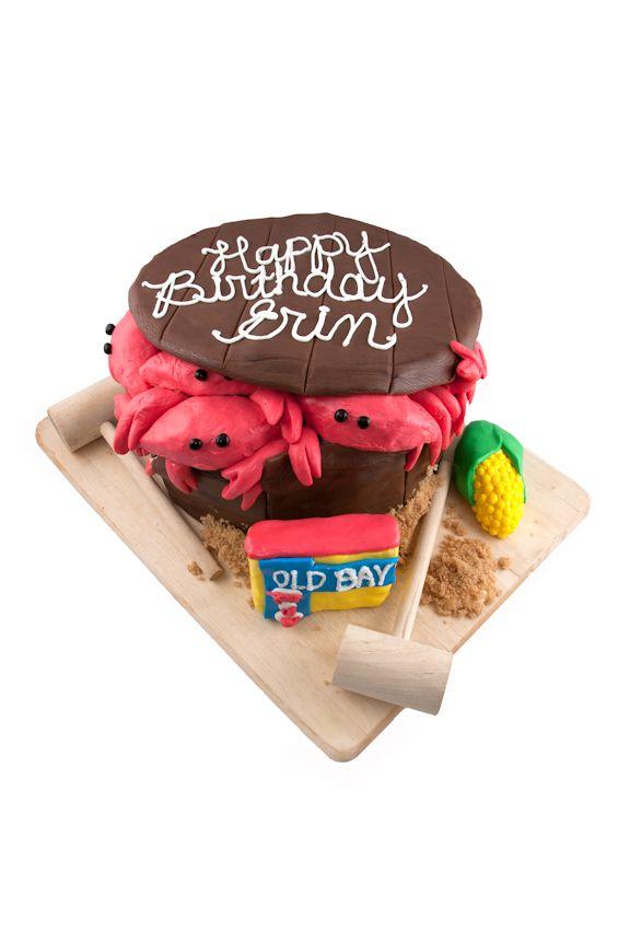Bushel Of Crabs Birthday Cake My Cakes Pinterest Crab Birthday