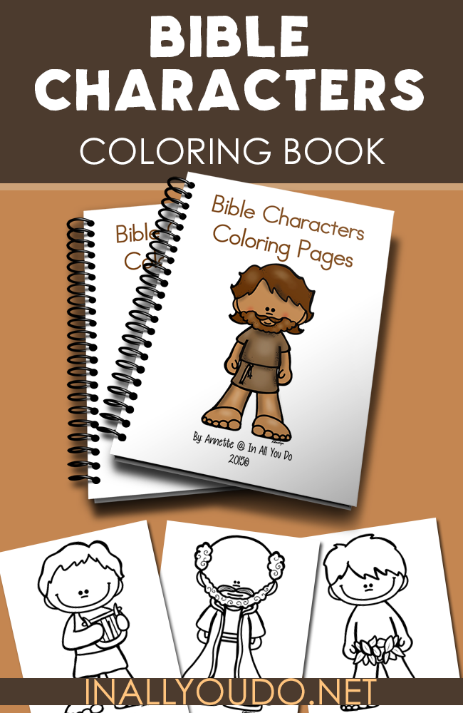 bible characters coloring pages in all you do