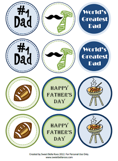 PRINTABLE Fathers Day cupcake toppers Retro Beer bottle tops