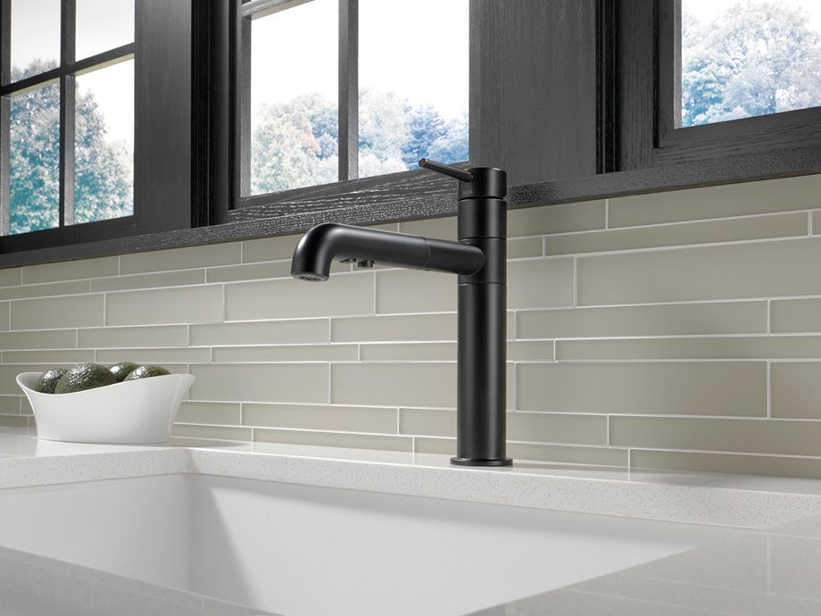 Go To The Dark Side 6 Reasons To Love A Matte Black Faucet Kitchen Faucet Black Kitchen Faucets Matte Black Kitchen Faucet