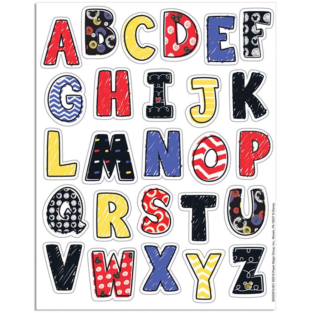 Mickey® Color Pop! Alphabet Stickers | Alphabet stickers ...