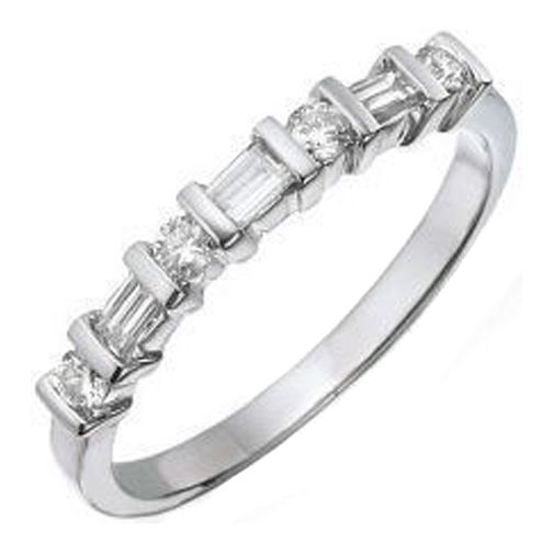 estata vintage white gold wedding bands whith baget dimonds | and ...