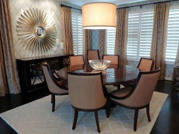 magnifique salle manger avec chaise confortable et table ronde avec suspension agrable avec dcoration murale - Chaise Salle A Manger Confortable