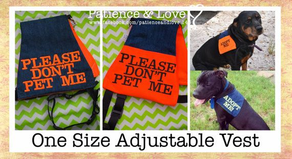 Vest Adjustable For Many Dogs Please Don T Pet Me Light Weight