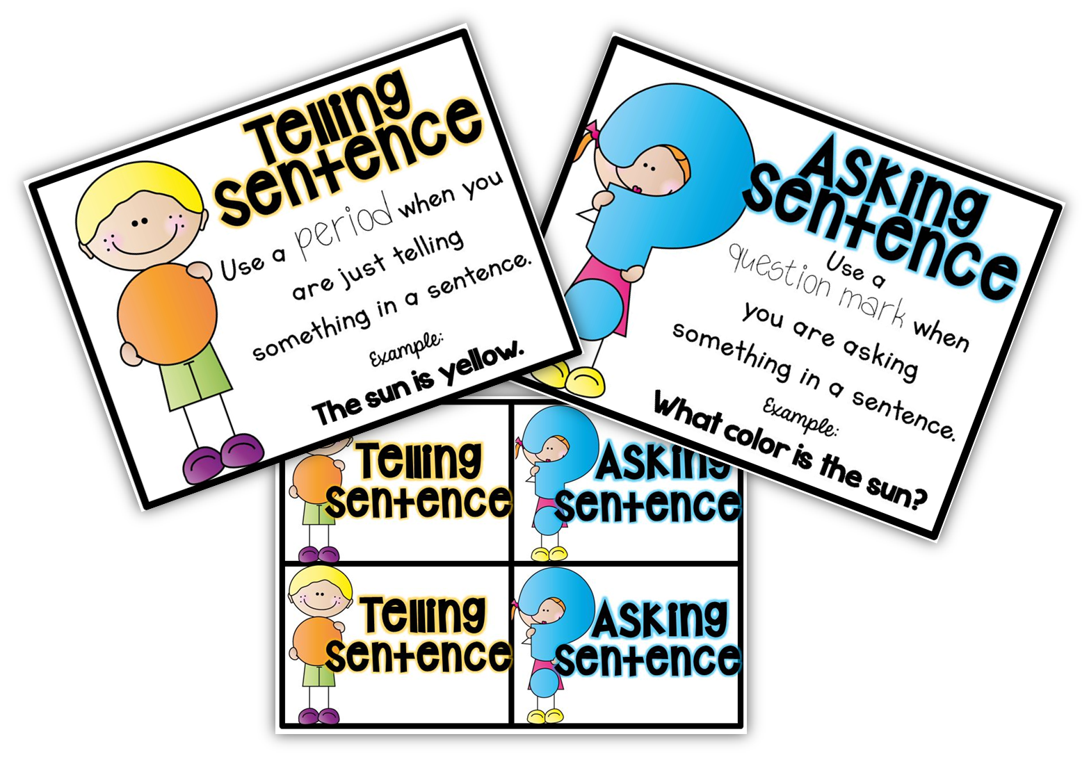 Free Posters And Sorting Cards For Telling And Asking