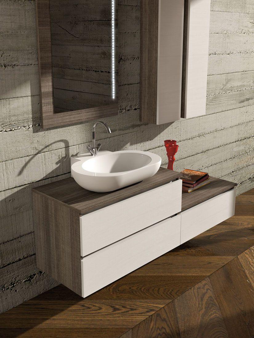 mobili moderni per il bagno di legnobagno