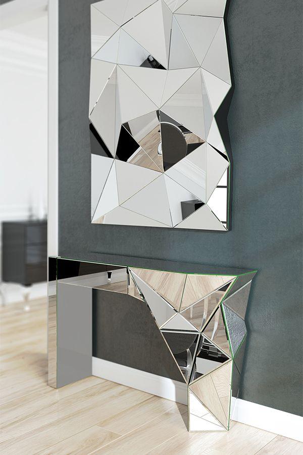 Console coiffeuse Miroir design - Wallila | Consolas ...