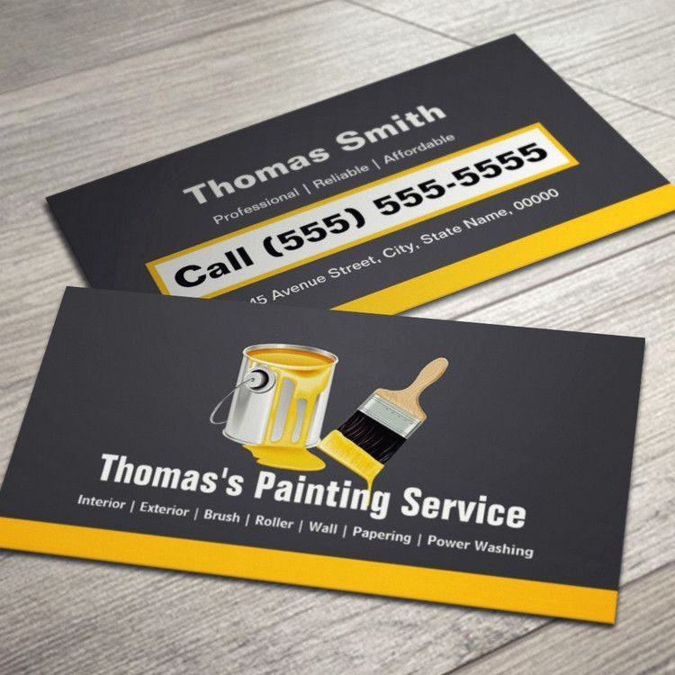painting business cards online