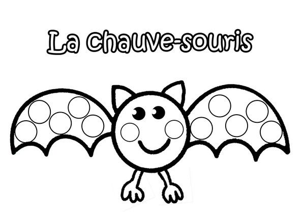 La Chauve Souris A Gommettes Coloriage Halloween Coloriage