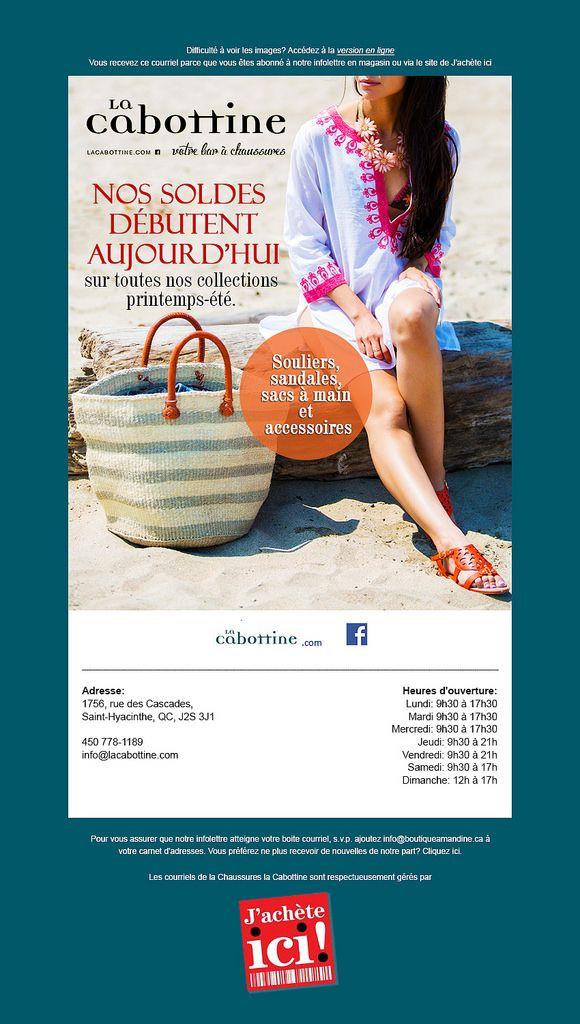 La Cabottine Emailer Design | Email design