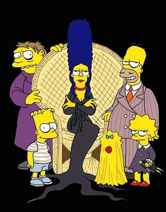 Los Locos Addams Simpsons Fotos De Los Simpson Dibujos De Los Simpson Personajes De Los Simpsons