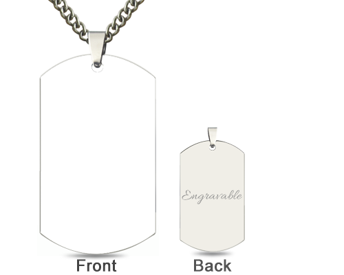 Engraved Stainless Steel Kid S Photo Dog Tag Necklace In 2020 Photo Necklace Dog Tag Necklace Sterling Silver Dog Tag