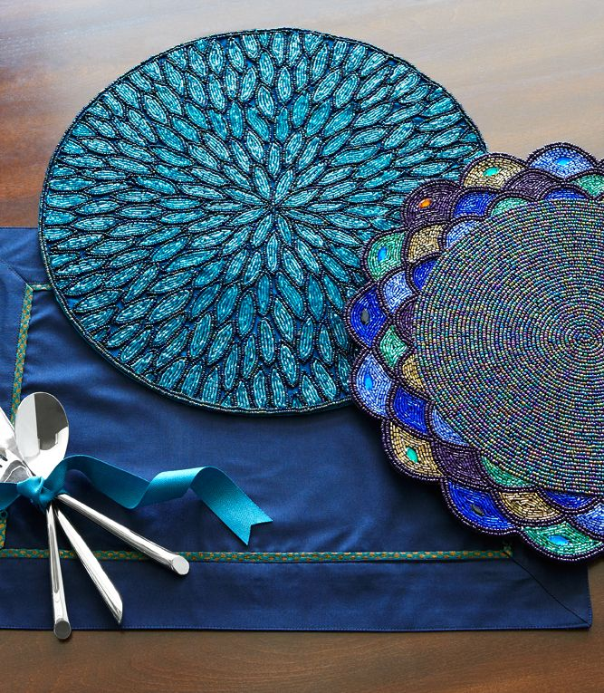 Pier 1 Placemats Have Special Details To Make Your Get Togethers Memorable Dining Room Table Decor Placemats Bead Work