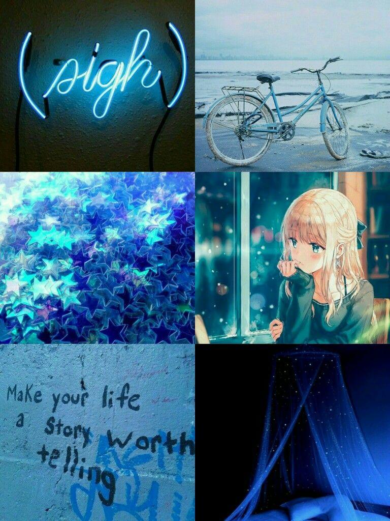 Blue Aesthetic Mood Board Blue Mood Board Blue Anime Mood Board I