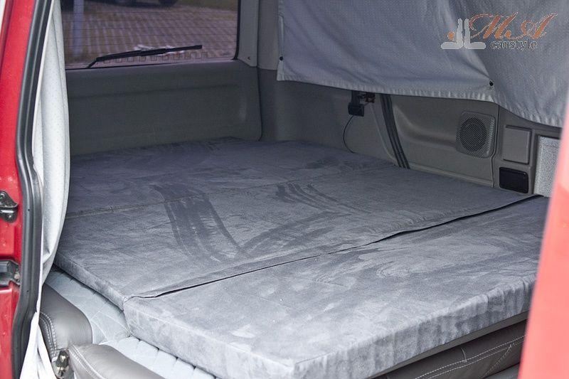 schlafmatratze matratze 3 teilig vw t4 multivan grau. Black Bedroom Furniture Sets. Home Design Ideas