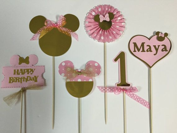 Minnie Mouse Happy Birthday Centerpieces Minnie Mouse Birthday