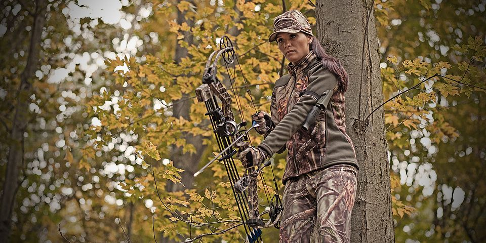 Camo Hunting Gloves for Ladies - Pink for girls only