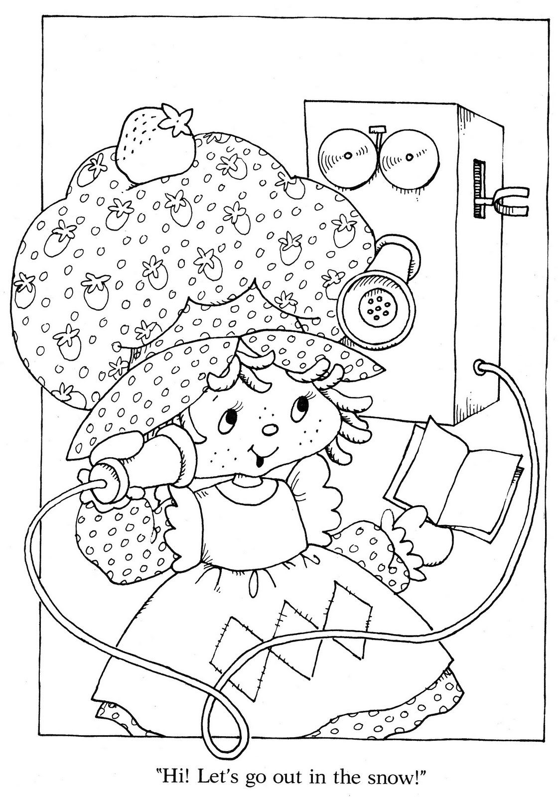 Vintage kenner american greetings strawberry shortcake for Selling coloring pages on etsy
