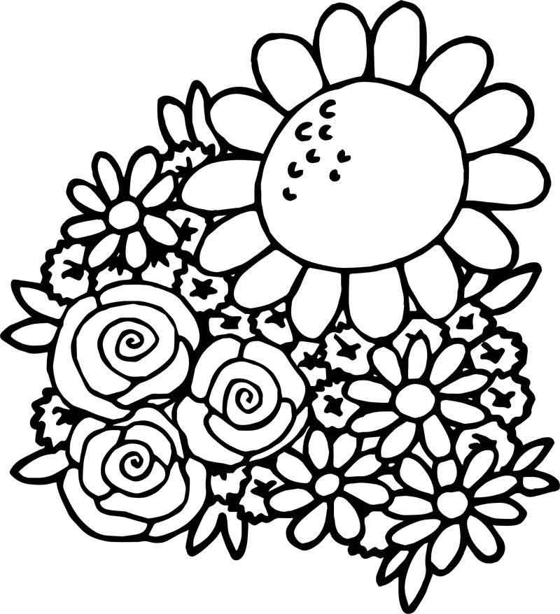 Spring Break Spring Flower Coloring Page Flower Coloring Pages Spring Coloring Pages Christmas Tree Coloring Page