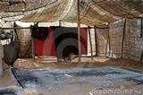 inside of an Bedouin tent.