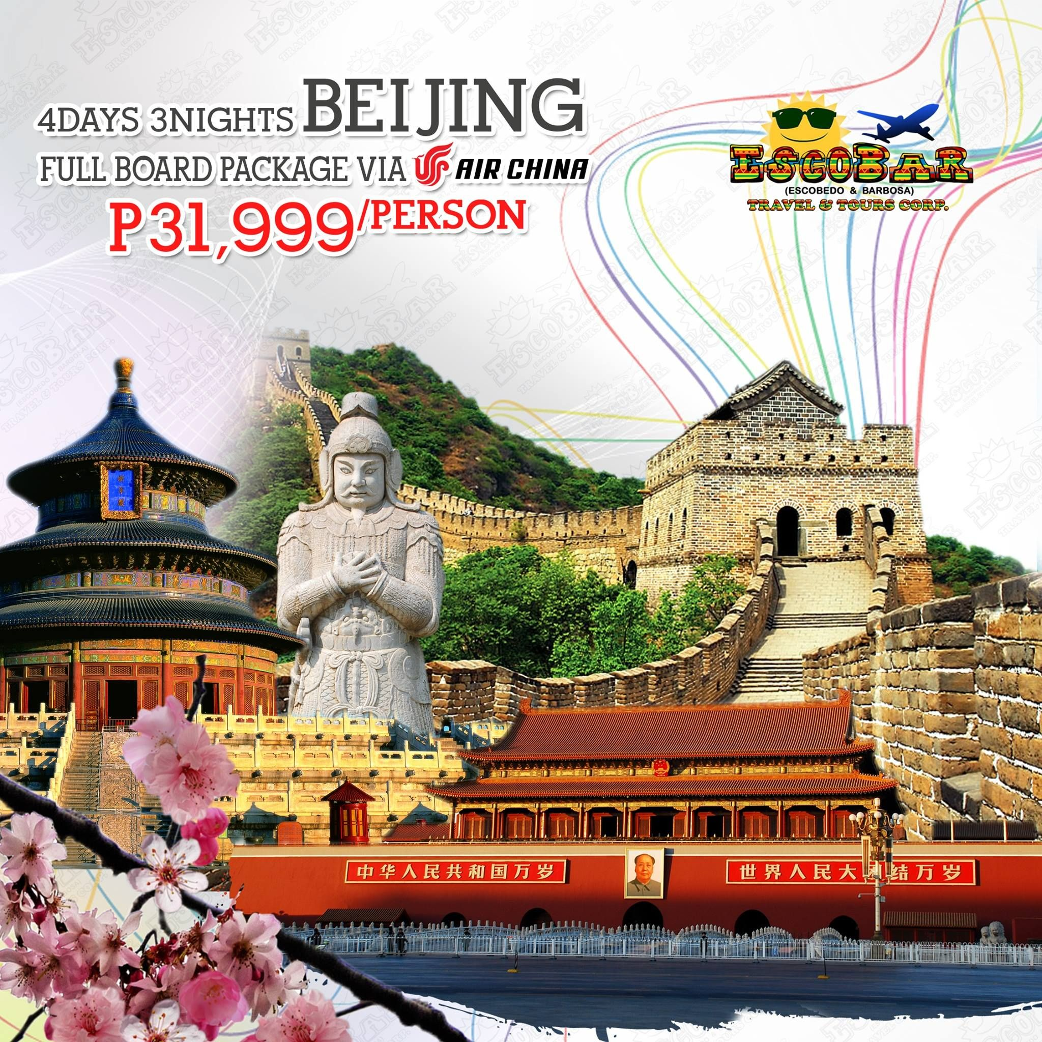 4D3N BEIJING FULL BOARD PACKAGE VIA AIR CHINA FOR ONLY