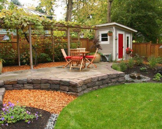 Http Www Agreenthumblandscape Com Shed Landscaping Outdoor Garden Sheds Backyard Landscaping Designs