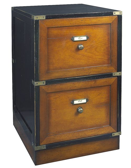 Very Well Made Campaign Files Black Filing Cabinet Nautical Furniture With Free Shipping