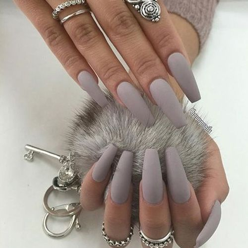 67 Best Matte Nails View Them All Right Here Http Www Nailmypolish Com Matte Nails Nailmypolish Grey Matte Nails Hair And Nails Cute Nails