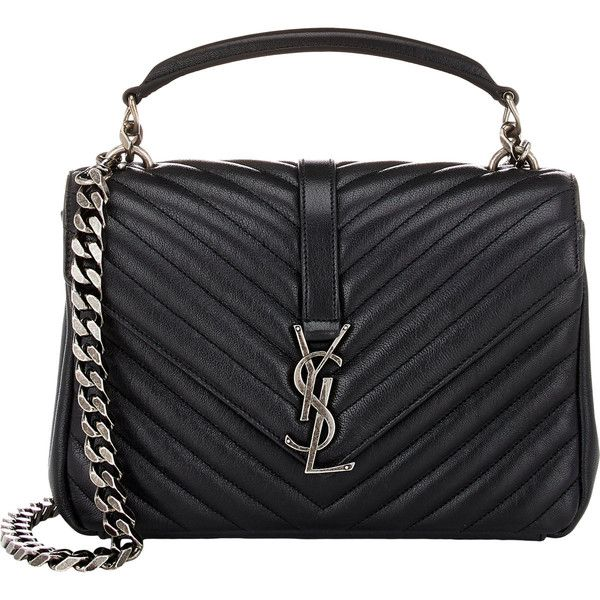 Saint Laurent Women s Monogram Medium Shoulder Bag found on Polyvore  featuring bags 780fc142209d0