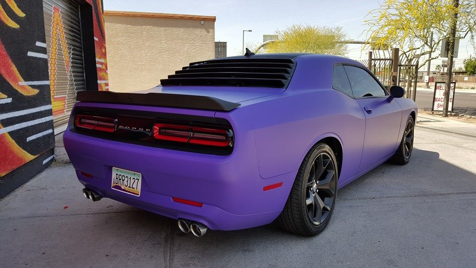 2015 Dodge Challenger Sxt Vinyl Wrap 1 Full Wrap 3m Matte Royal
