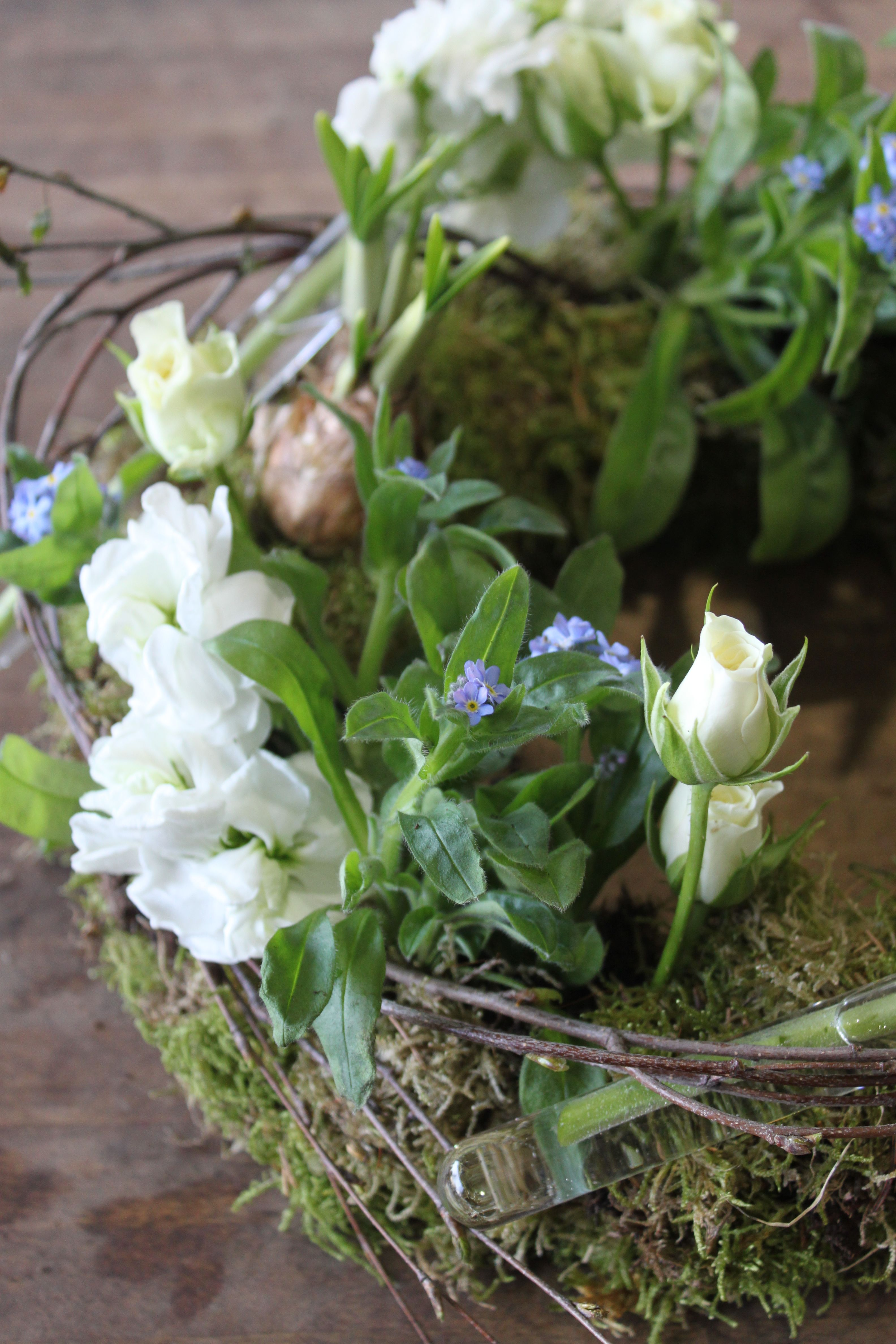 Plant And Cut Flowers Funeral Wreath Funeral Flowers Pinterest