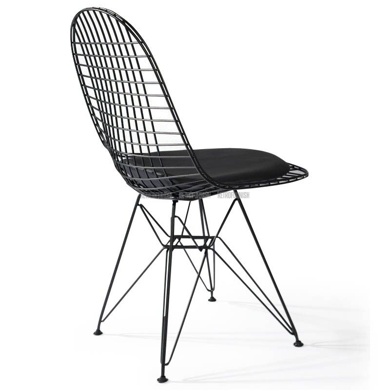 Affordable eiffel dkr wire chair door charles eames for Replica design meubelen