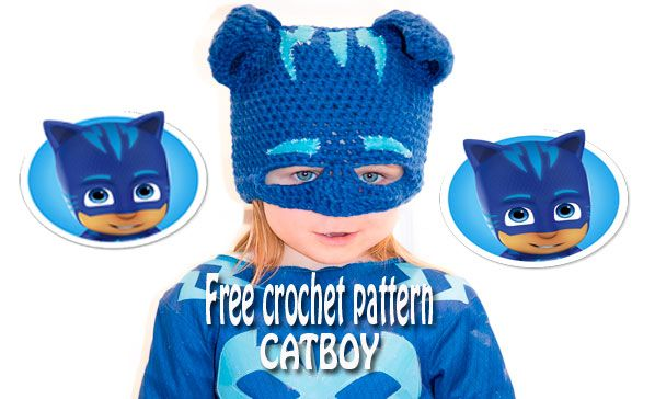 Catboy Mask- Free Crochet Pattern. A free crochet pattern to create a catboy  mask. Free catboy crochet mask. Tutorial to make a free crochet catboy mask f0e109c244d