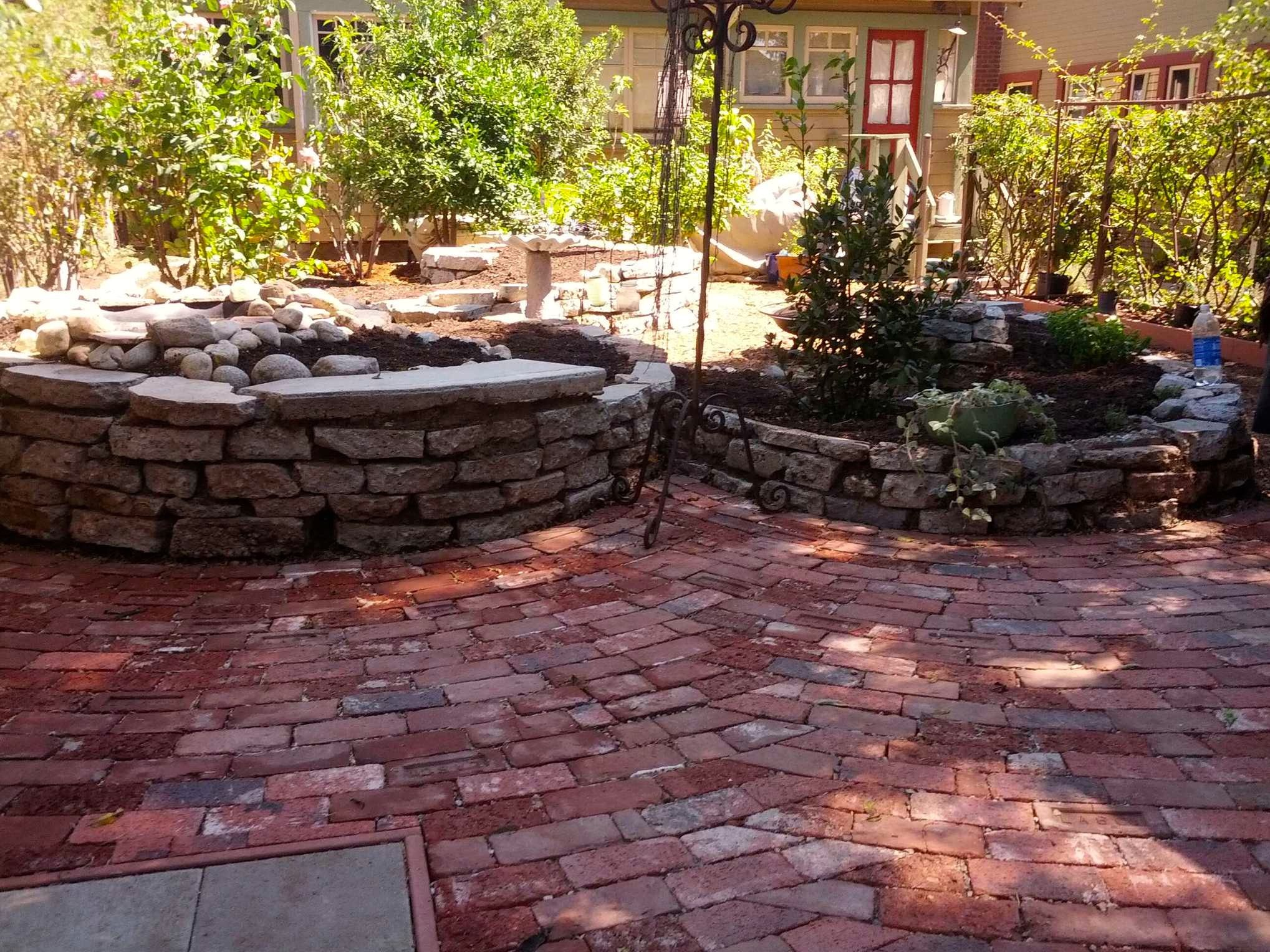 Brick Patterns For Patios Raised Beds And Brick Ripple Pattern Patio Design Build By
