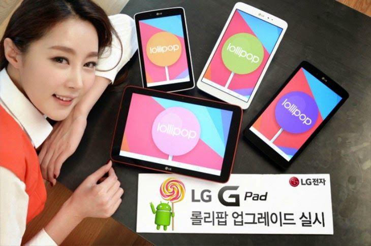 Update Android V5 0 Lollipop Untuk Lg G Pad 7 0 8 0 Dan 10 1 Sudah Digulirkan Mulai Hari Ini Tablet Reading Lollipop Tablet