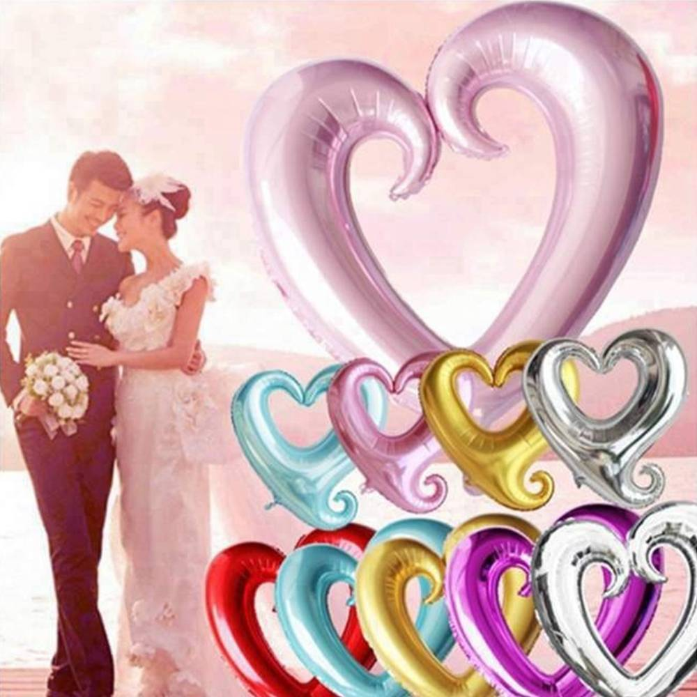 Valentine's day garden decor   GBP  Pcs Love Heart Shape Foil Balloon Wedding Birthday Party
