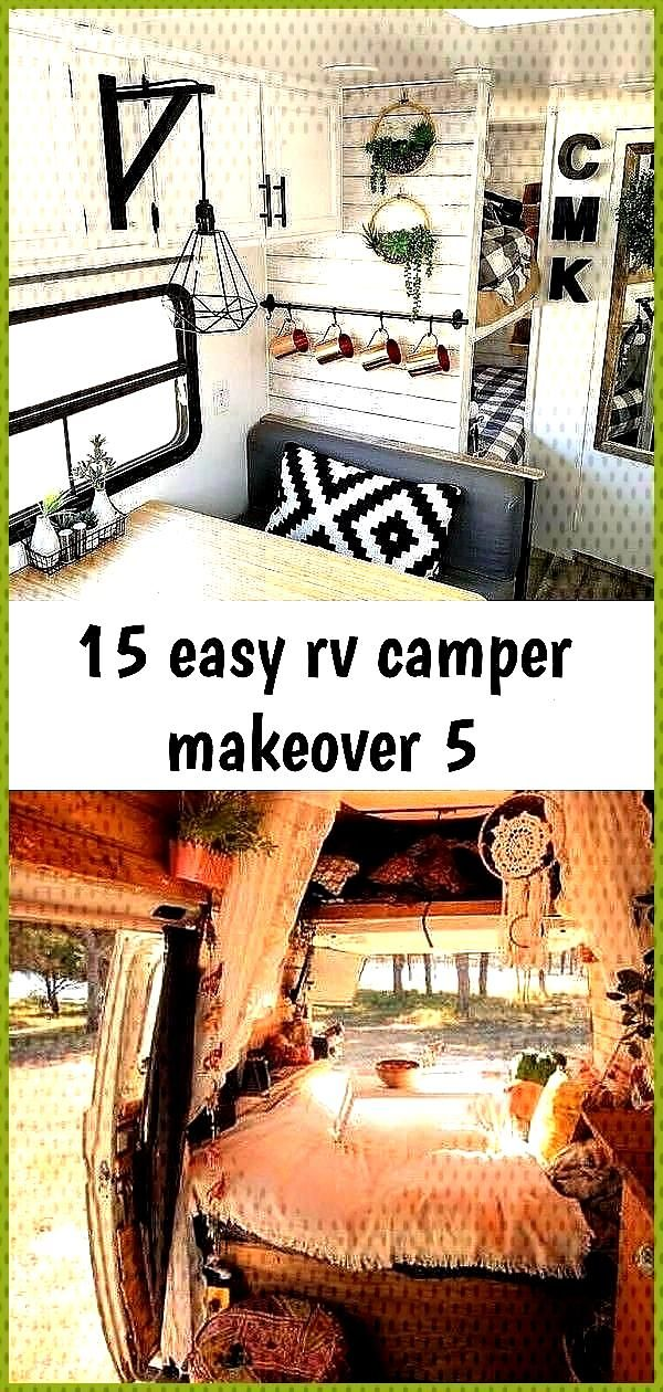 15 easy rv camper makeover 5 68 Ideas boho campers van life for 2019 campers 22 Incredible RV Decor