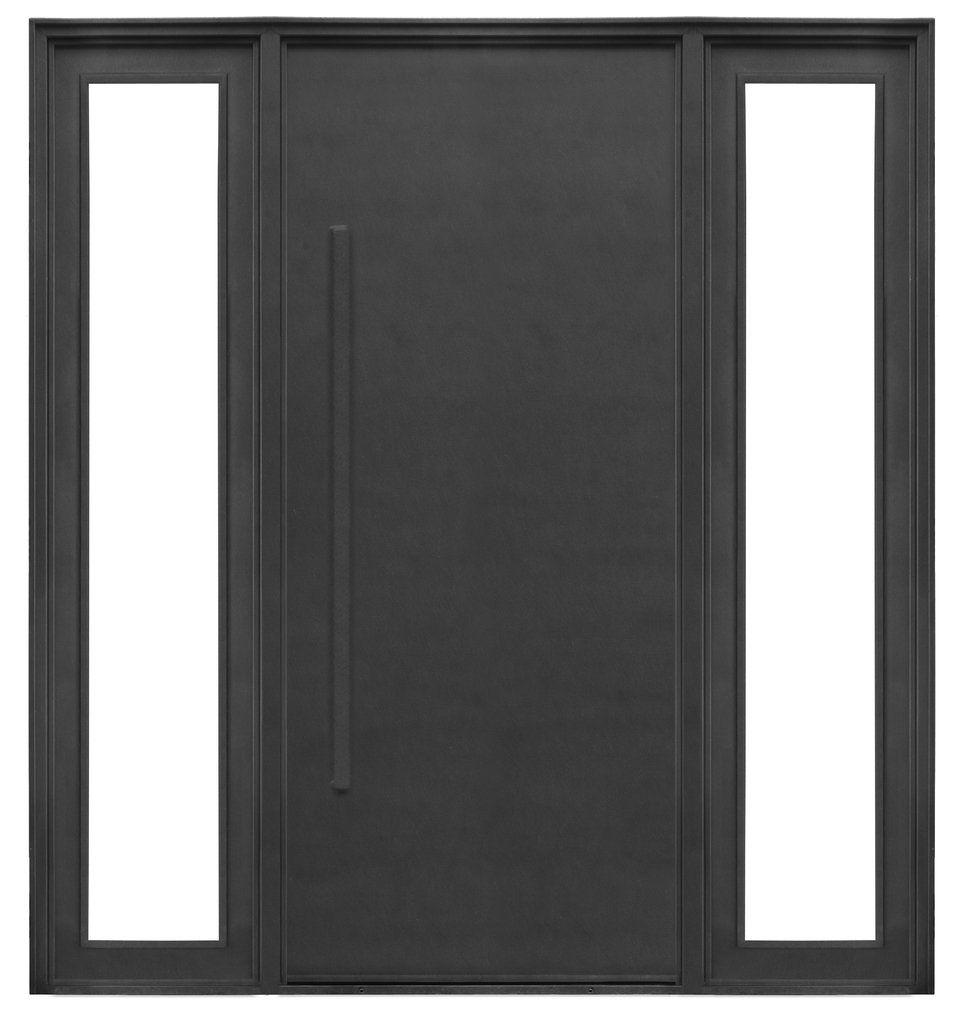 puerta de hierro moderna con manij n exterior del hierro