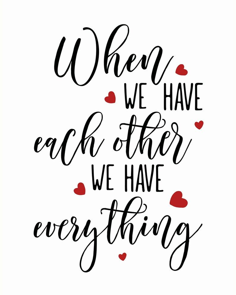 Wedding Gift, Each Other Quote, Wedding Card, Wedding Print, Wedding Sign, Wedding Printable, Red Black Print, Heart Print, Love Print