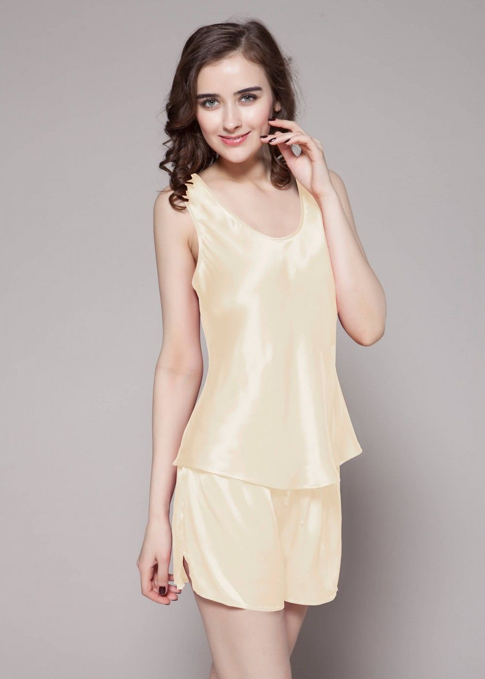 22 Momme Free Scoop Silk Camisole Set in 2018  4e07280bd