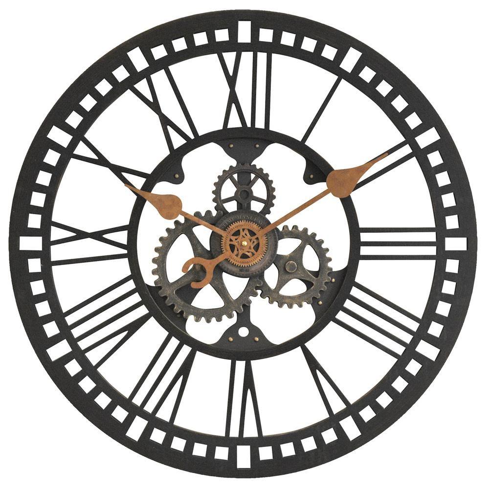 SUN CLOCK 15 INCH BRONZE FINISH WALL CLOCK